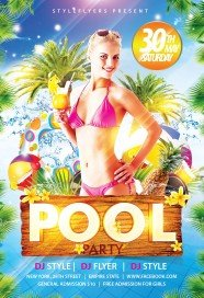 Captivating Pool Party PSD Flyer Template