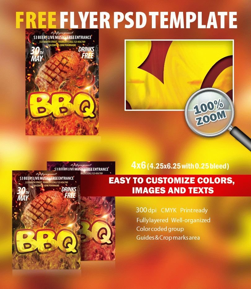 Bbq Psd Flyer Template Free Download #7919 - Styleflyers