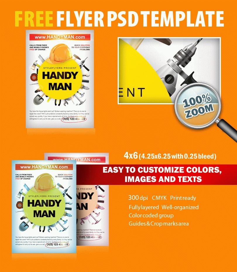 advertisement template free - handyman psd flyer template free download 8079 styleflyers