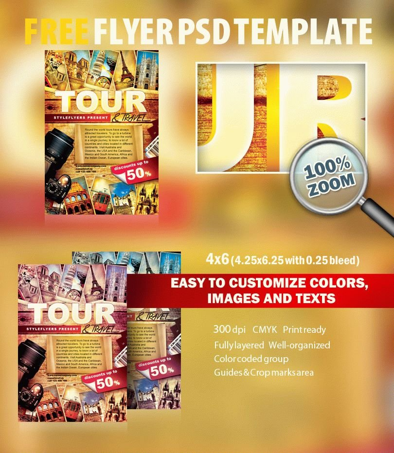 Tour & Travel PSD Flyer Template