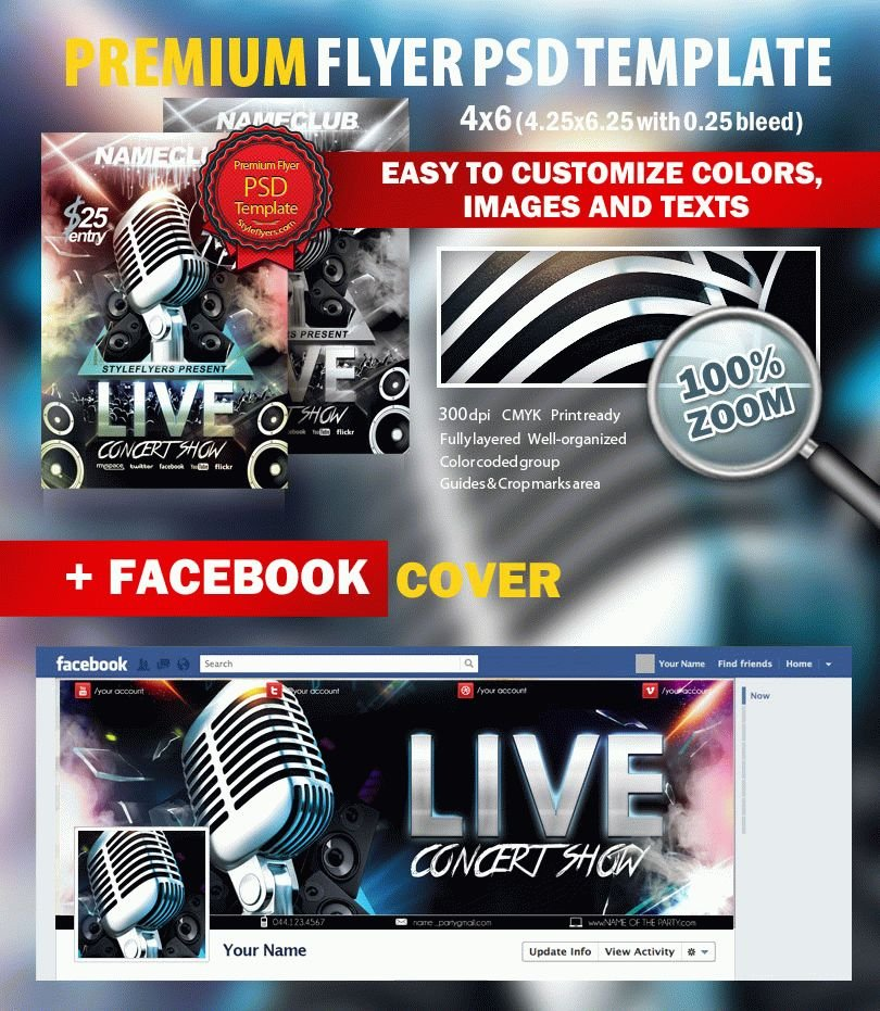 Live Concert Show Psd Flyer Template 7914 Styleflyers