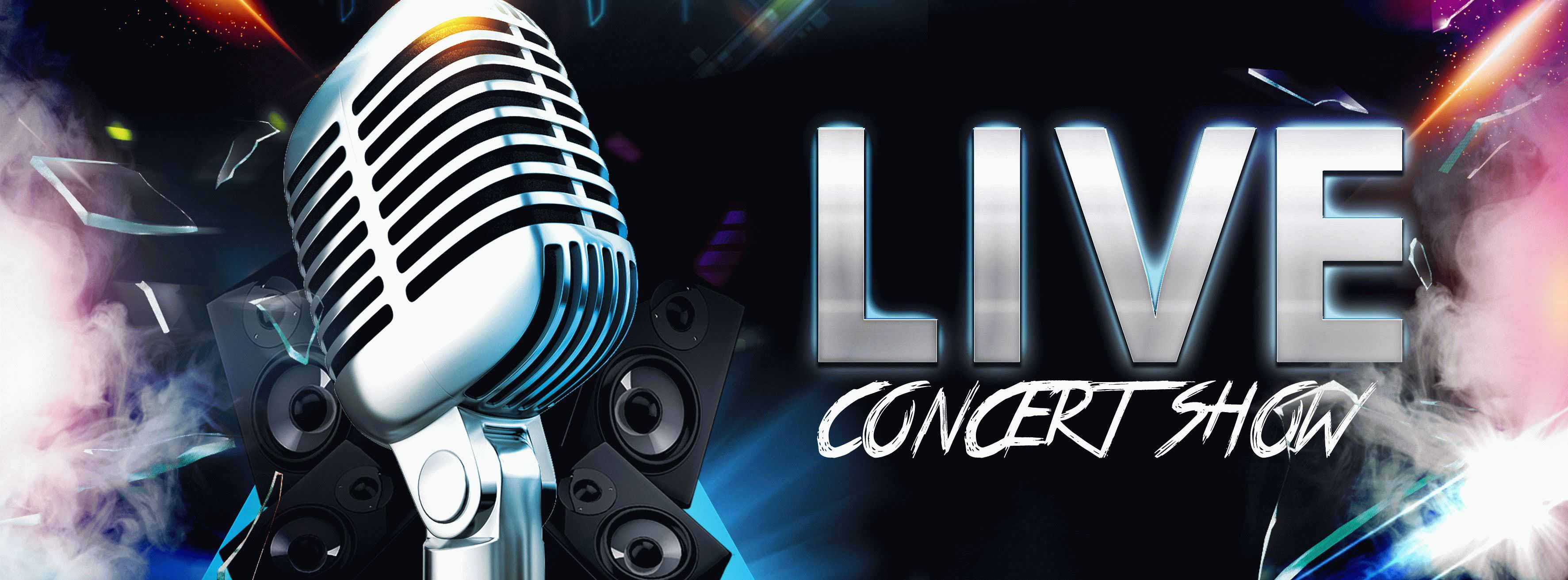 Live Concert Show PSD Flyer Template