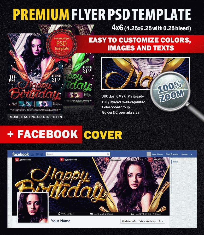 Birthday PSD Flyer Template