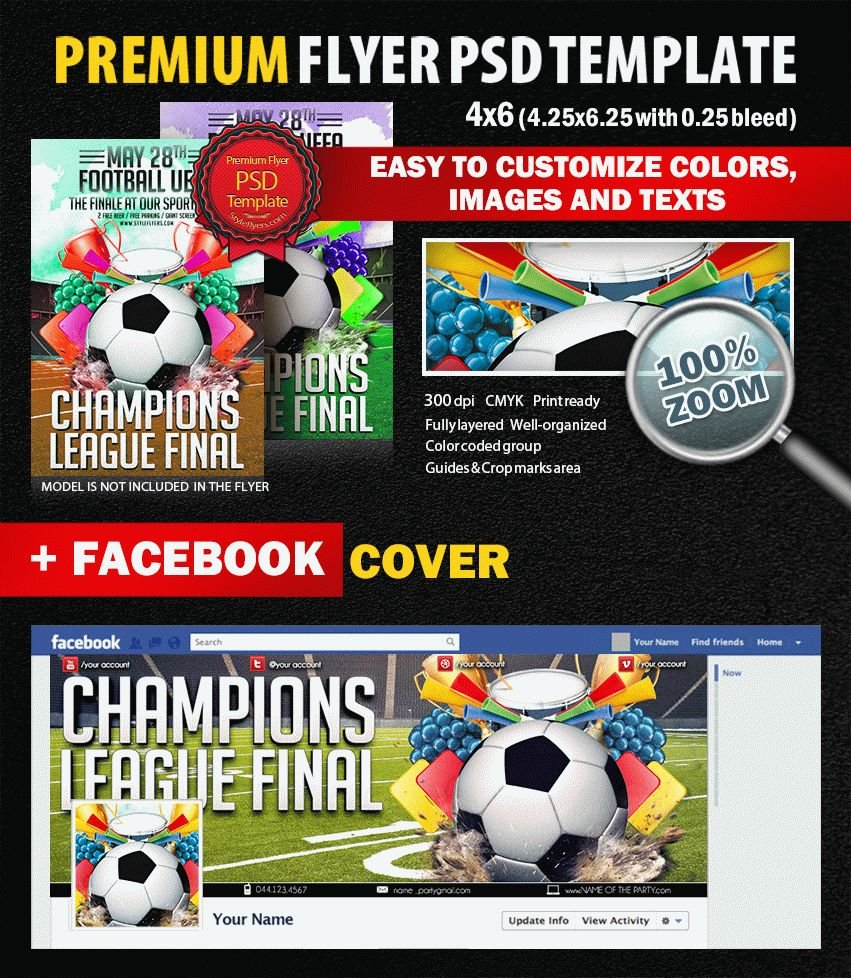 Champions League PSD Flyer Template