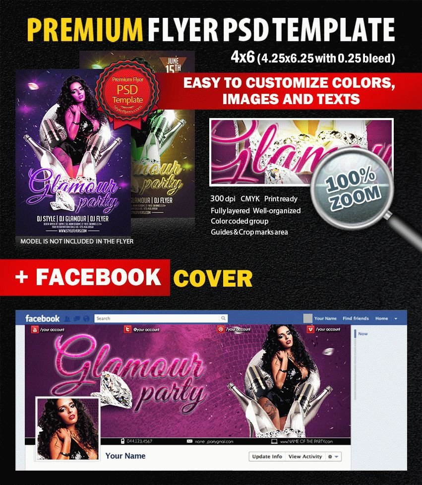 Glamour Party PSD Flyer Template
