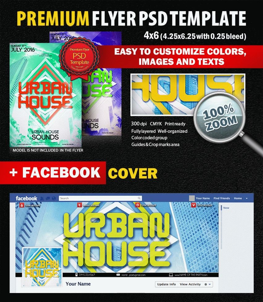 Urban House PSD Flyer Template