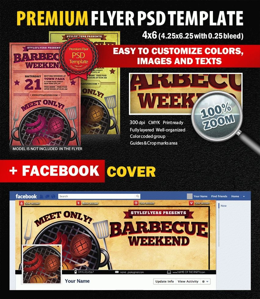 Weekend BBQ PSD Flyer Template