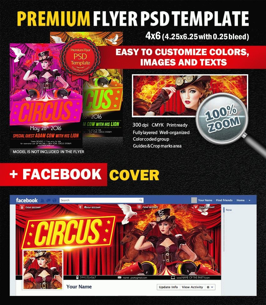 Circuse PSD Flyer Template