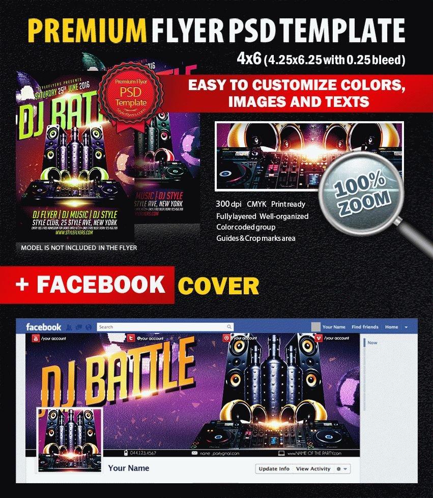 Dj Battle PSD Flyer Template