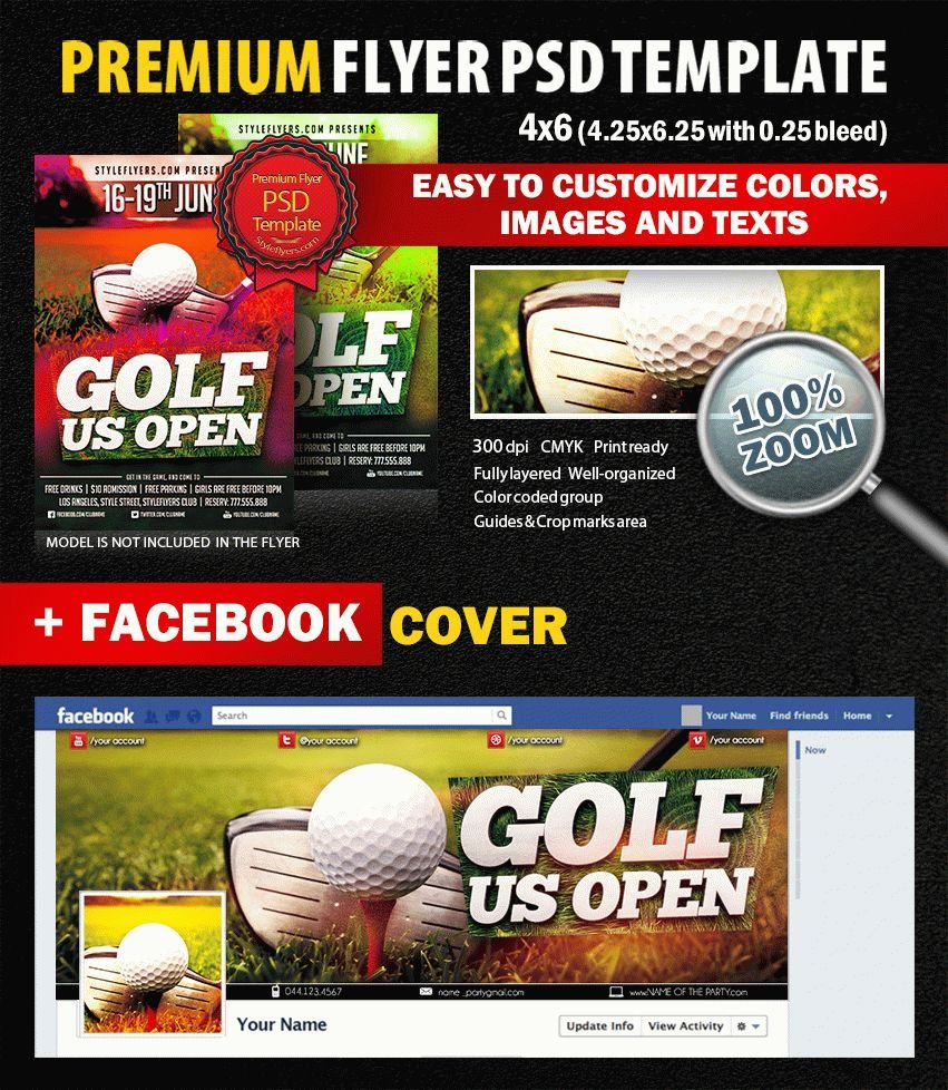 Golf Championship Psd Flyer Template 8386 Styleflyers