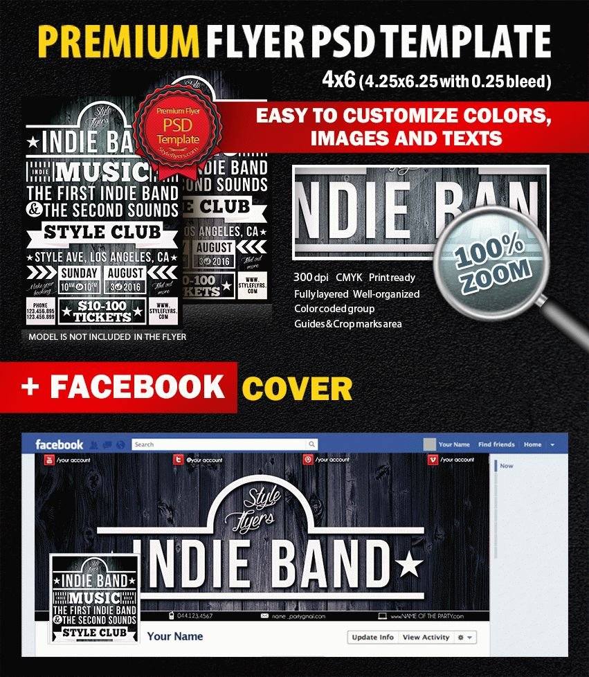 Indie Band PSD Flyer Template