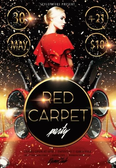 Red carpet party psd flyer template 8195 styleflyers flyer template red carpet party saigontimesfo