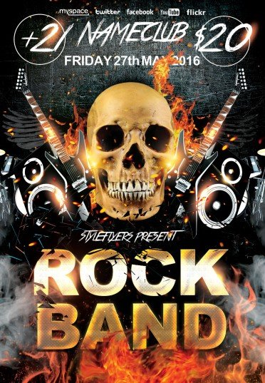 Rock Band Psd Flyer Template 7954 Styleflyers