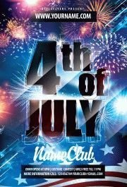 4 of july PSD Flyer Template