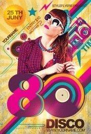 80's Disco PSD Flyer Template