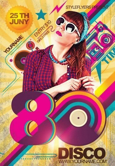 S Disco Psd Flyer Template   Styleflyers