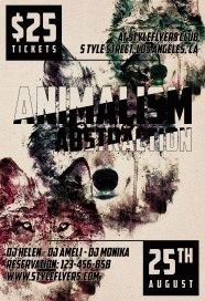Animalism-Absrtaction-PSD-Flyer-Template
