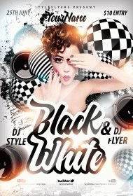 Black&White PSD Flyer Template