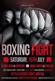 Boxing-Fight-PSD-Flyer-Template