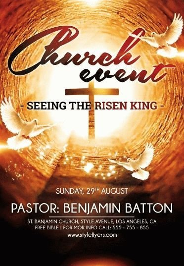 Church Event Psd Flyer Template