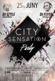 City-Sensation-Party PSD Flyer Template