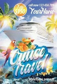 Cruise Travel PSD Flyer Template