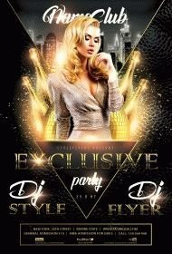 Exclusive Party PSD Flyer Template