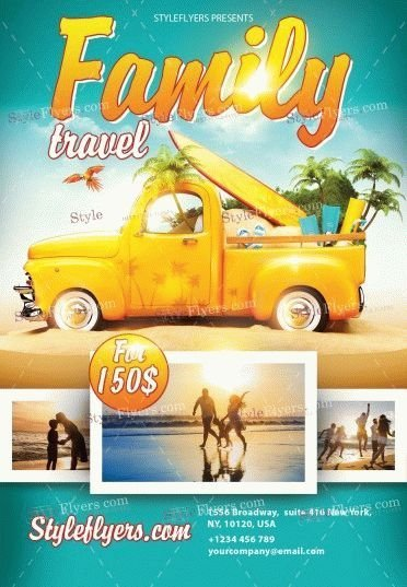 Family-Travel-PSD-Flyer-Template