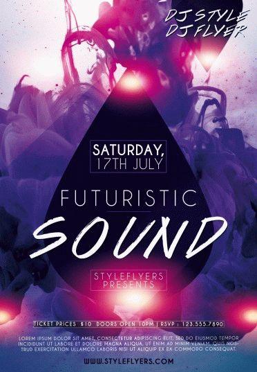 Futuristic-sound-PSD-Flyer-Template