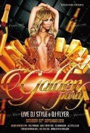 Golden-Party-PSD-Flyer-Template