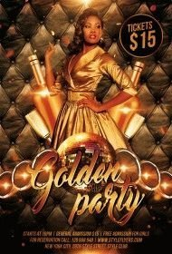 Golden-Party-PSD-Flyer-Template