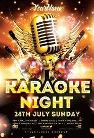 Karaoke Night PSD Flyer Template