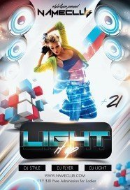 Light it up PSD Flyer Template