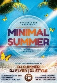 Minimal-Summer-PSD-Flyer-Template
