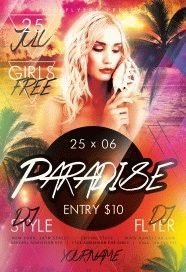 Paradise PSD Flyer Template