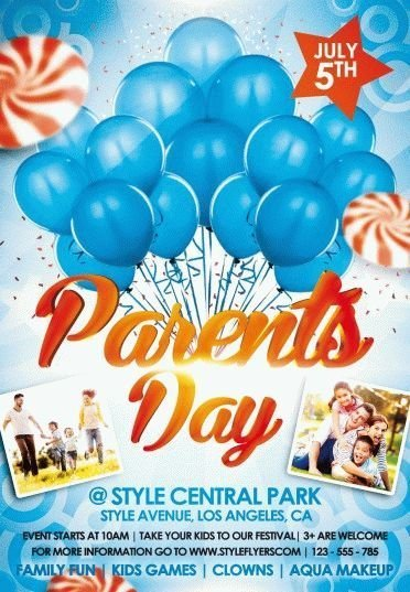 Parents day psd flyer template 9154 styleflyers for Parent flyer templates