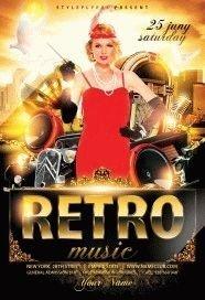 Retro Music Flyer PSD Flyer Template