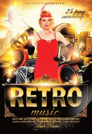 Retro Music Flyer Psd Flyer Template #9017 - Styleflyers