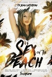Sex on the Beach PSD Flyer Template