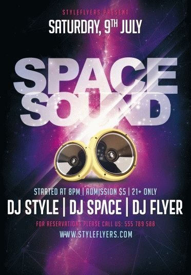 Space-Sound-PSD-Flyer-Template
