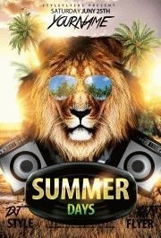 Summer Days PSD Flyer Template