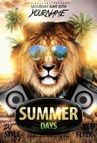 Summer Days PSD Flyer Template