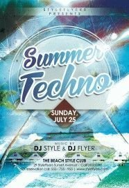 Summer-Techno-PSD-Flyer-Template
