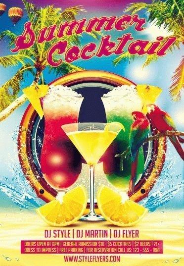 Summer_Cocktail-PSD-Flyer-Template