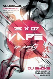 Vape on Party PSD Flyer Template
