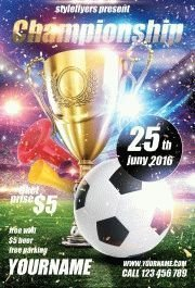 championship PSD Flyer Template