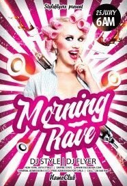 morning-rave PSD Flyer Template