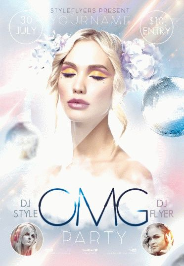 omg-party PSD Flyer Template
