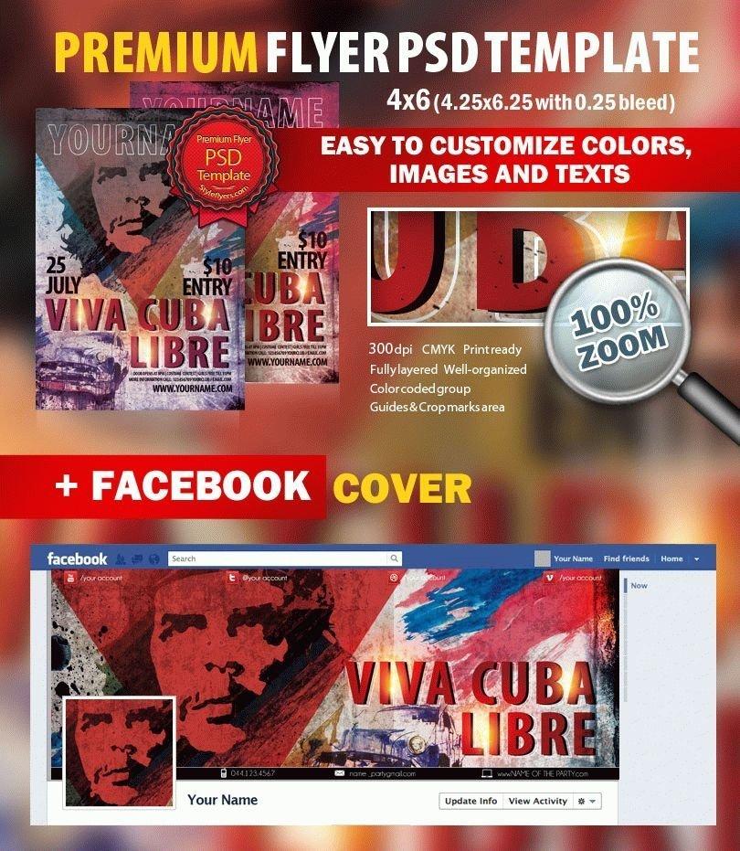Viva Cuba Libre PSD Flyer Template