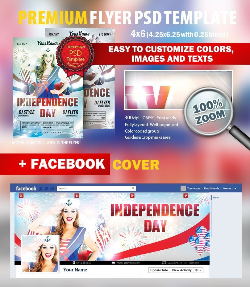 Independence Day Psd Flyer Template #8679 - Styleflyers